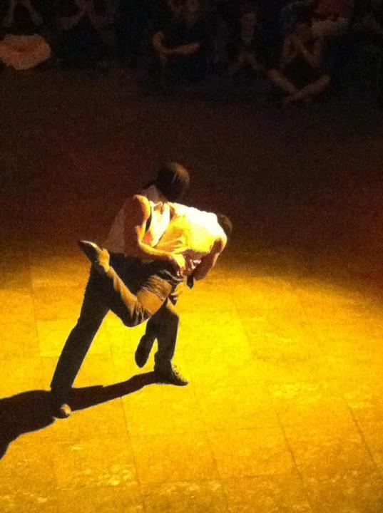 Augusto Balizano y Claudio Gonzalez en la noche de gala del Festival Tango Queer de Berlin 2012